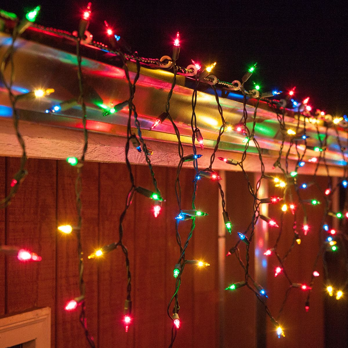 For 11 99 Multicolor Icicle Lights On A L Green Wire With 3 Inch Spacing Between Drop Icicle Lights Colored Christmas Lights Multi Colored Christmas Lights