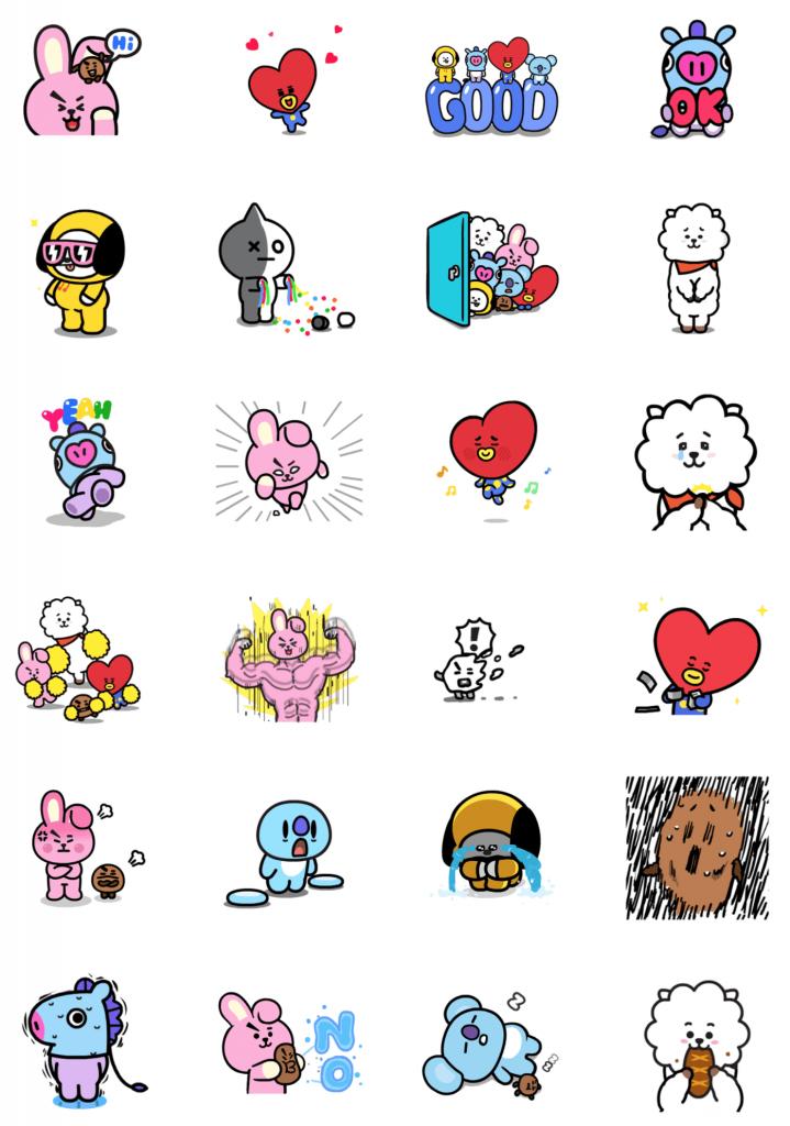 Bt21 Sticker Line Bts Resmi Hasil Kolaborasi Bersama Line Friends
