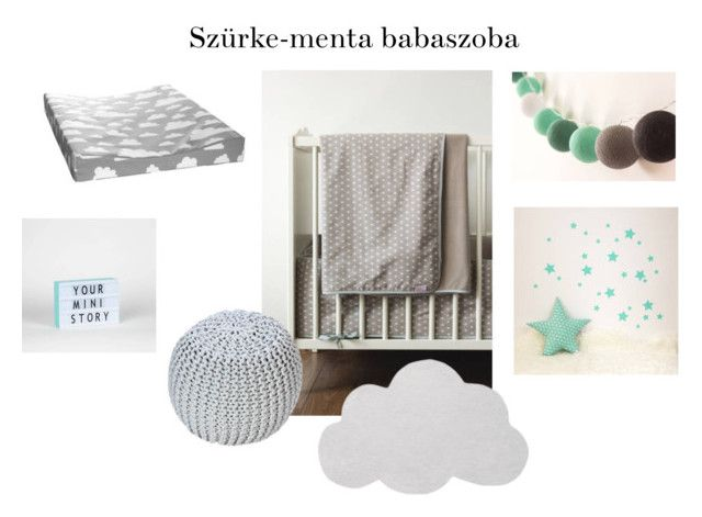 szürke-menta babaszoba by maisonblog on Polyvore featuring interior, interiors, interior design, home, home decor and interior decorating