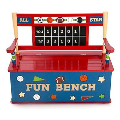Hit The Bench Will Have An All New Meaning When Your Kids Have The All Star Sports Toy Box In Their Room The A Kids Sports Room Kids Toy Boxes Kids Bench