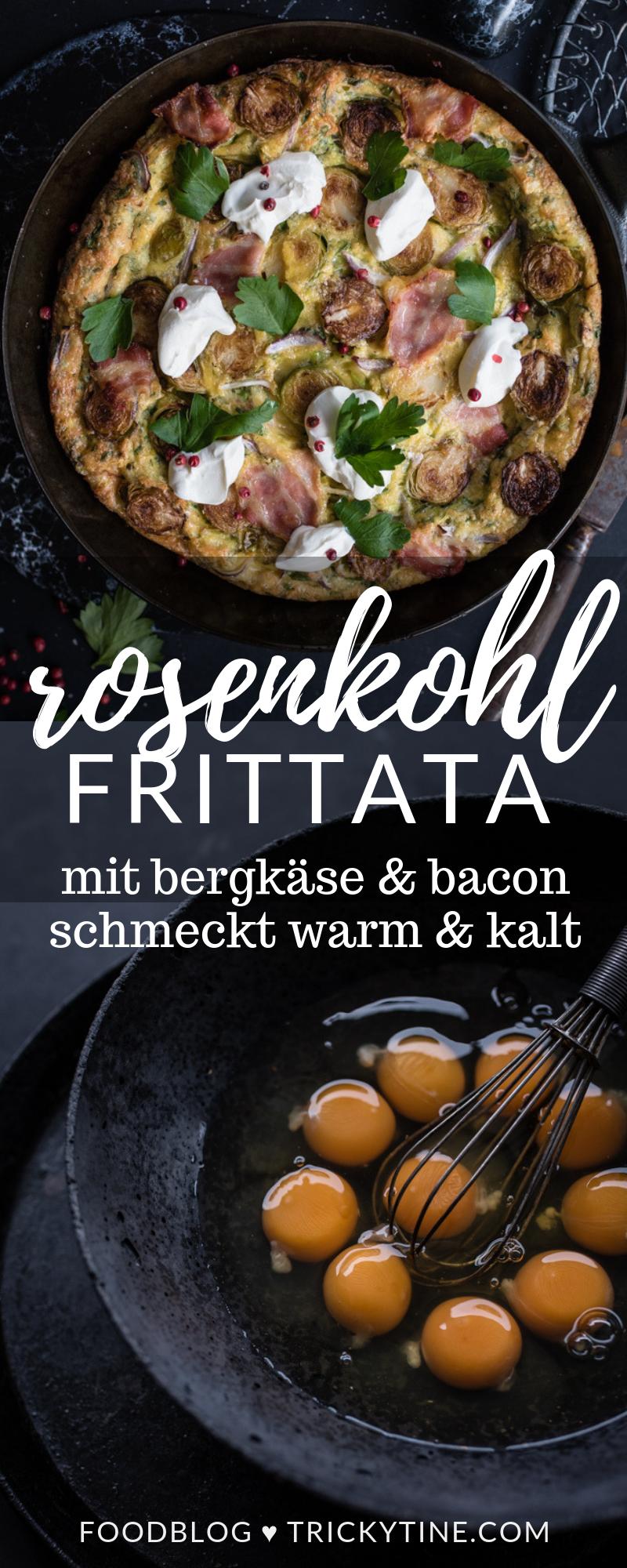 Rosenkohl Frittata mit Bergkäse und Bacon by trickytine