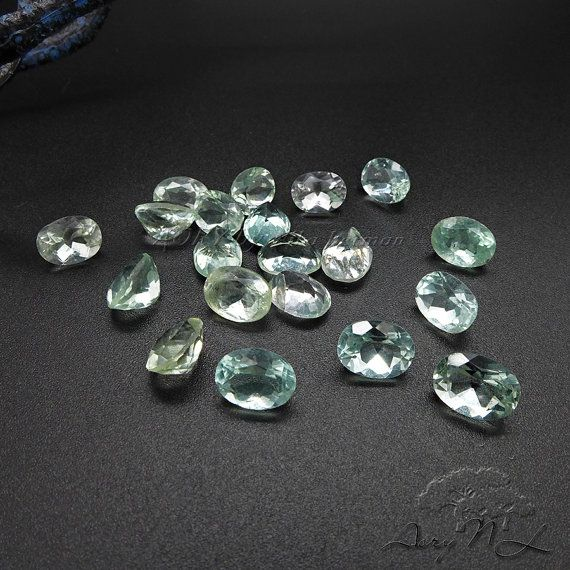 1pcs 8x6mm Natural Green Faceted Fluorite Oval Facet by AoryNL