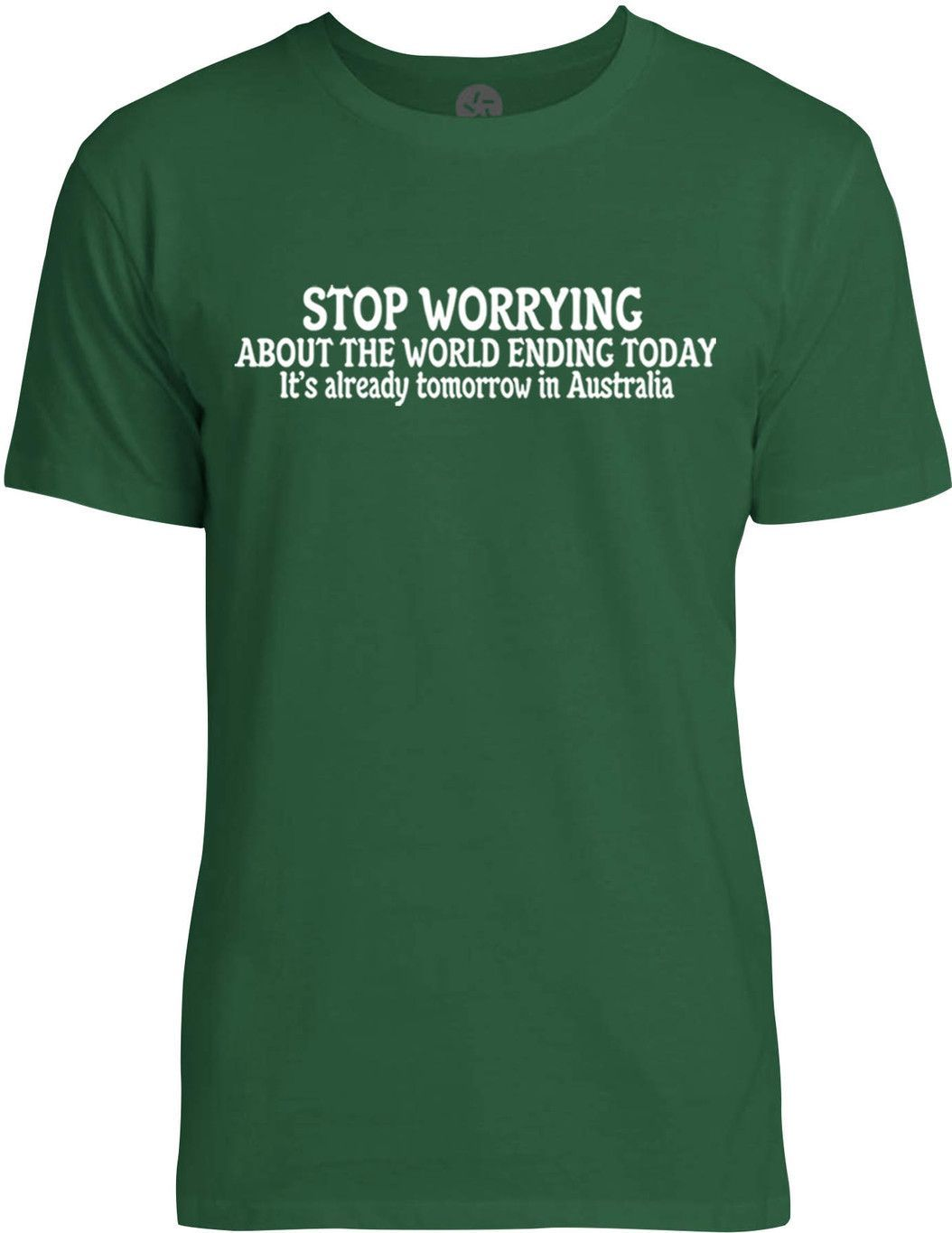 Stop Worrying About the World Ending (White) Mens Fine Jersey T-Shirt