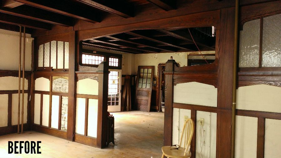 Four square house interior