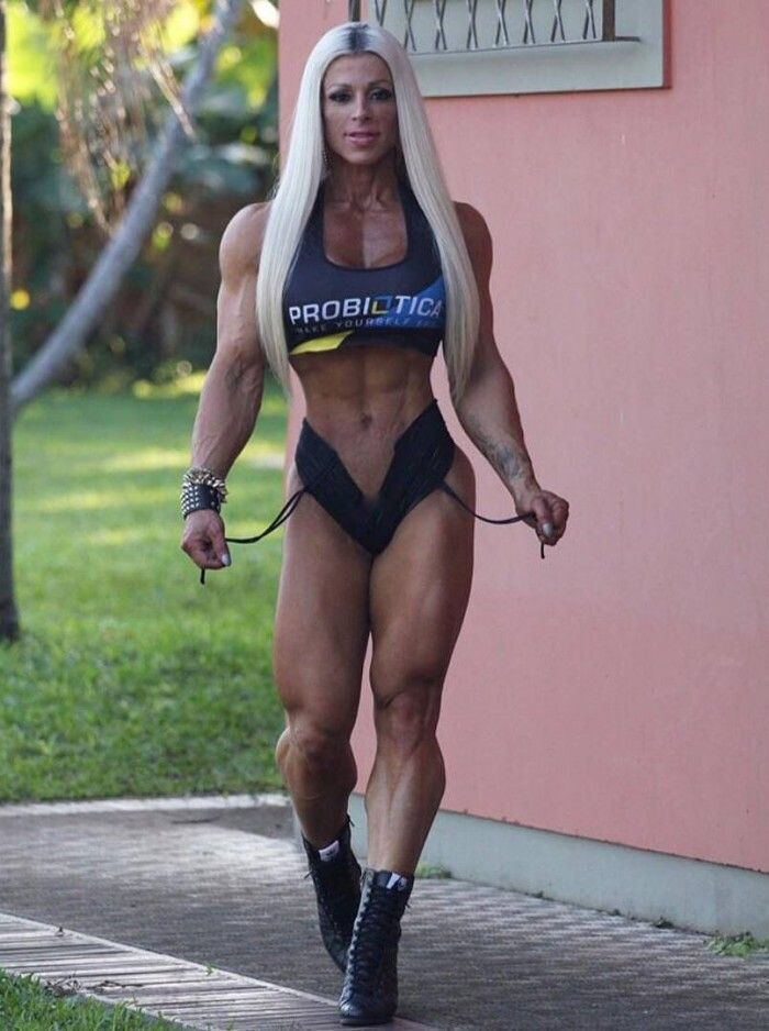 Anne Freitas Muscular Strength Bodybuilder Fit Bodies