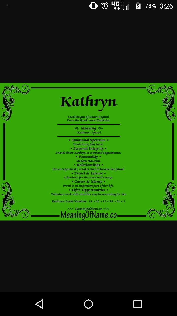 Kathryn name meaning | Names with meaning, Personal ...