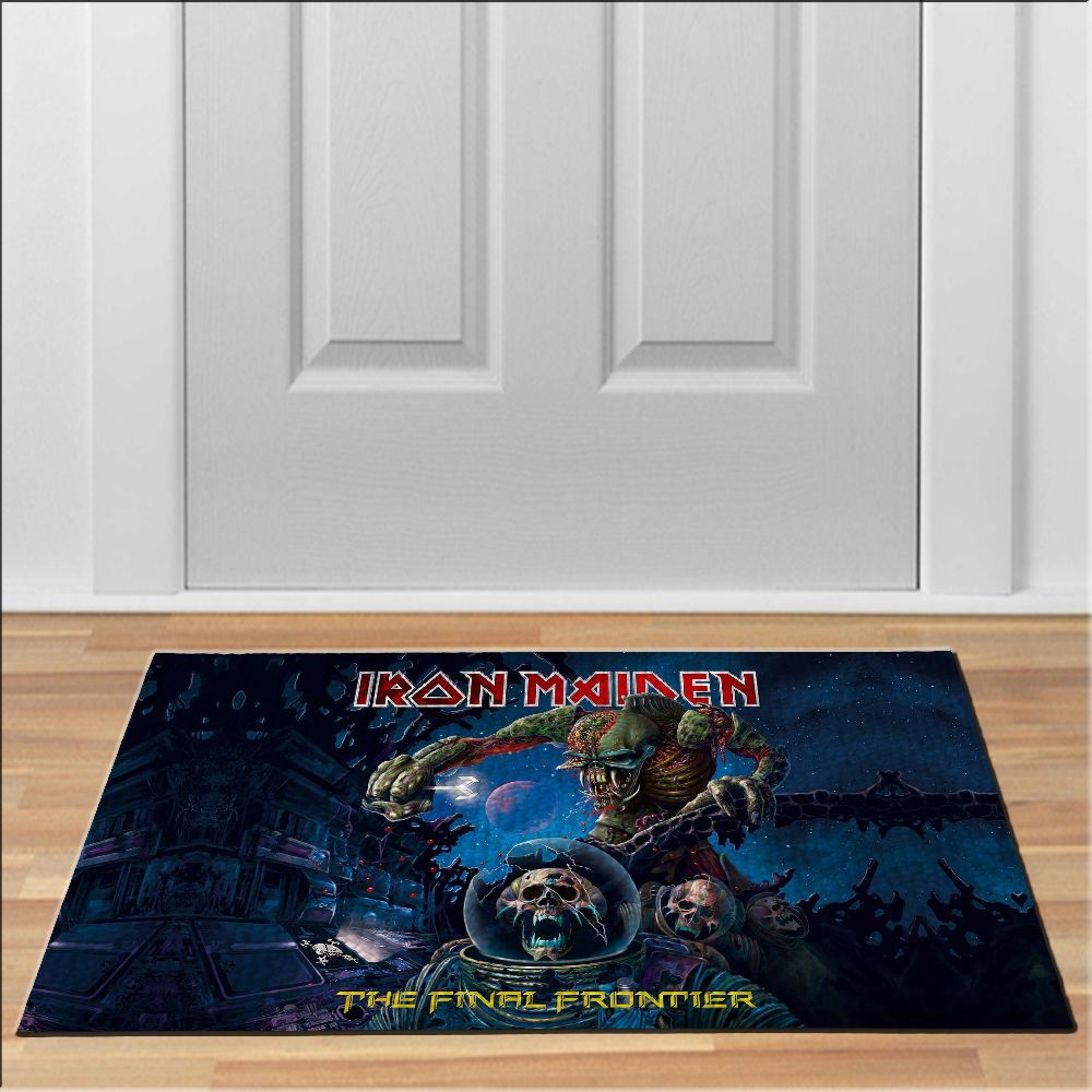 awesome the final frontier iron maiden Doormat Rock Heavy Metal Band ...