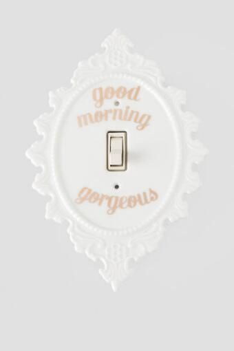 Good Morning Gorgeous Light Switch Plate, yet another cute switch plate from Francesca's