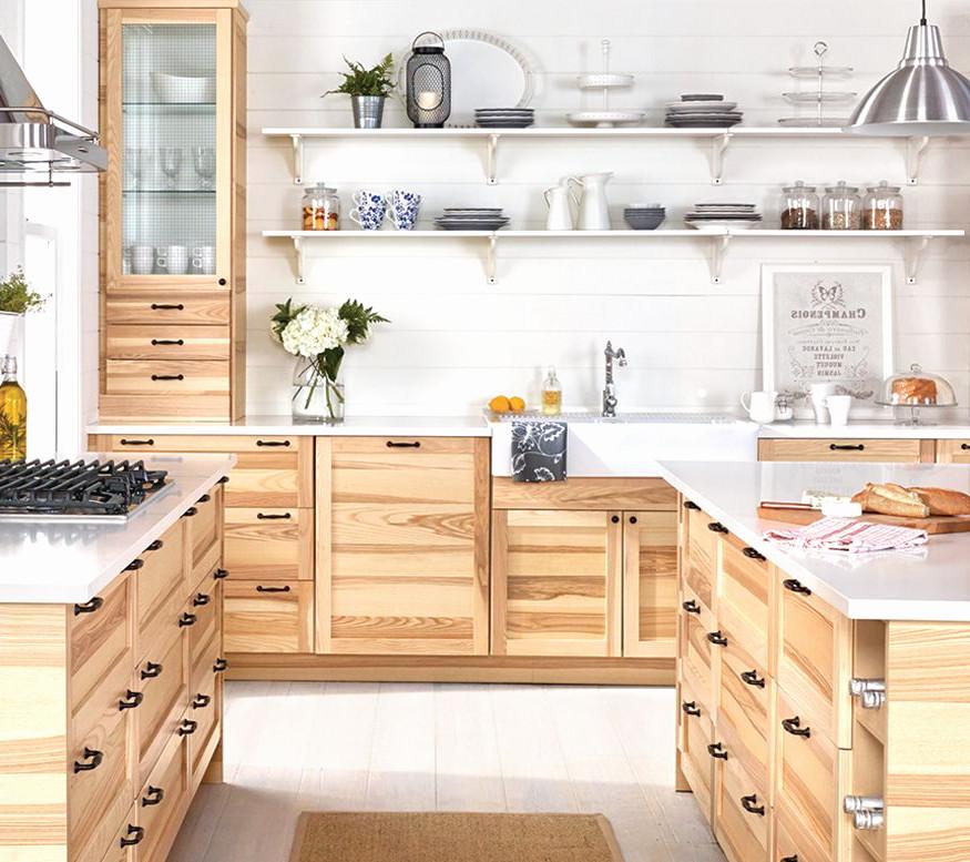 Complete Keuken Ikea Elegant A Large Kitchen With Sektion Torhamn Natural Ash Doors Kitchen Remodel Small Kitchen Renovation Pine Kitchen Cabinets