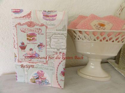 Cupcake Backbuch Stoffhülle