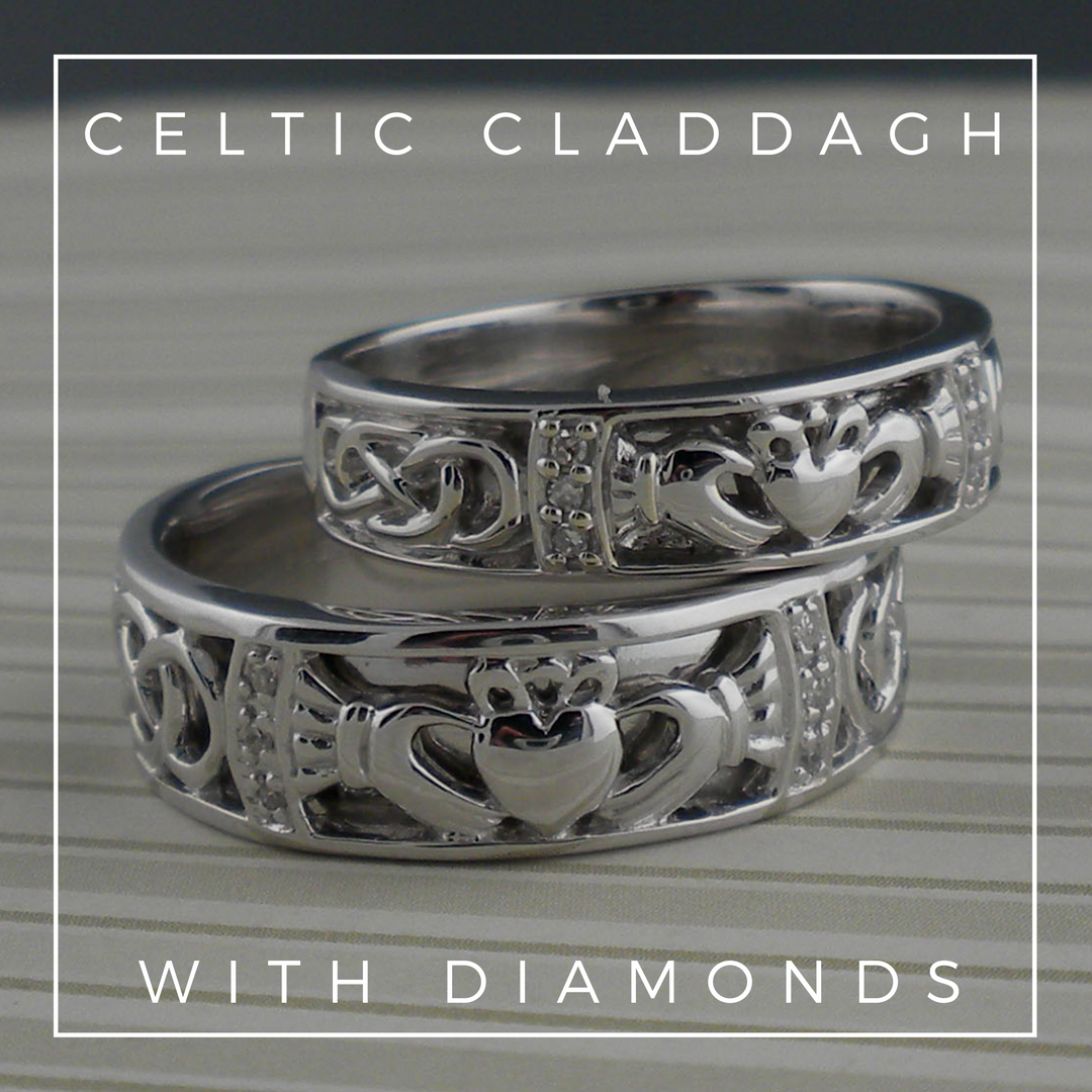 Ladies Claddagh Celitc Knot Wedding Ring Unique Celtic Wedding