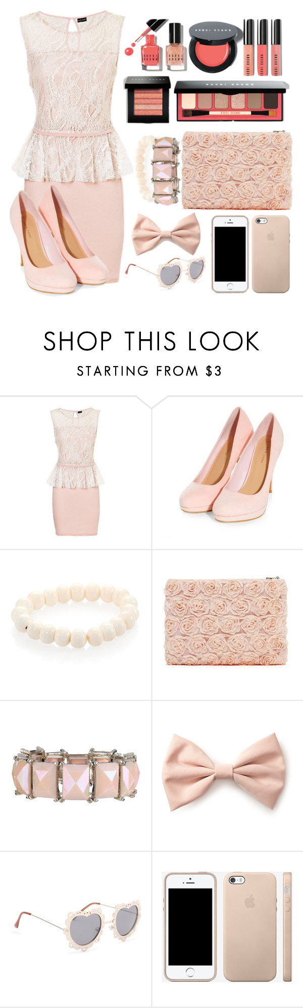 """""""Soft Pink"""" by foreverdreamt ❤ liked on Polyvore featuring Bobbi Brown Cosmetics, Nest, Forever 21, With Love From CA and Pink"""