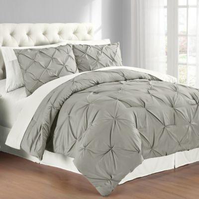 Pintuck 3 Piece Comforter Set Pintuck Comforter Pintuck Bedding Comforter Sets