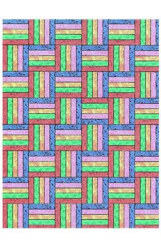 Free Quilt Pattern 5 Rail Fence