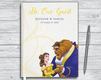 Disney Wedding Guest Book Beauty And The Beast Journal Be Our