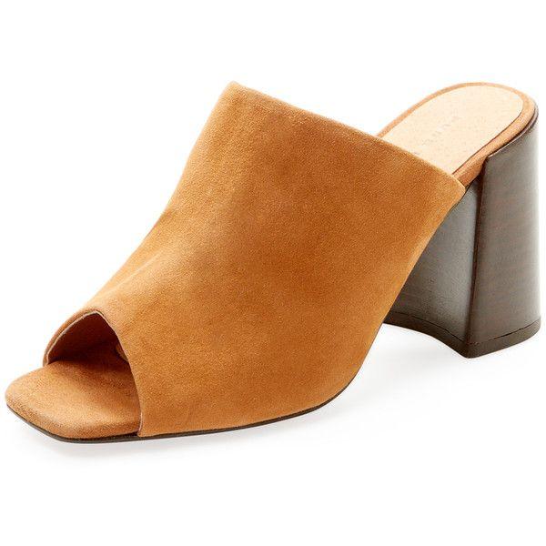 PURE NAVY Women's Clein Open-Toe Mule - Camel, Size 10 ($50)