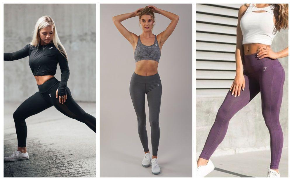 7f3f256de8b7e0 New Gymshark Sleek Aspire Leggings Black Purple XS S M L Women's High Waist  Gym