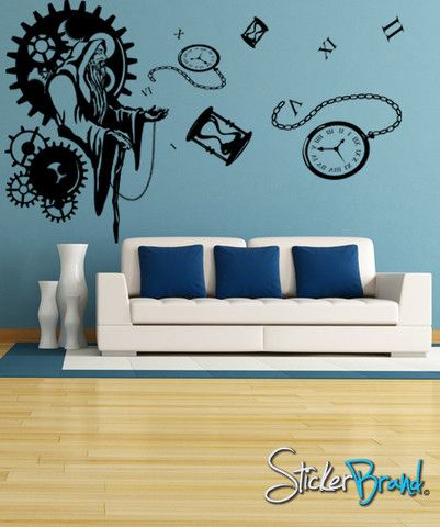Vinyl Wall Decal Sticker Father Time #GFoster106 | Stickerbrand wall art decals, wall graphics and wall murals.