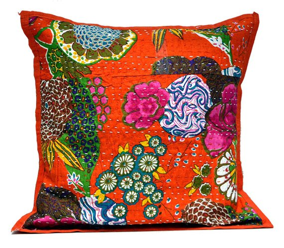 16 kantha floor cushion bohemian kantha pillow cases indian decorative throw pillows for couch sofa  16 kantha floor cushion bohemian kantha pillow cases indian decorativ...