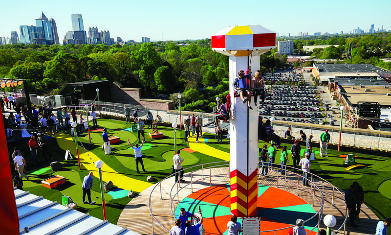 Climb To New Heights Of Fun At Ponce City Market S Rooftop Carnival Chris Berry City Market Visit Atlanta Ponce