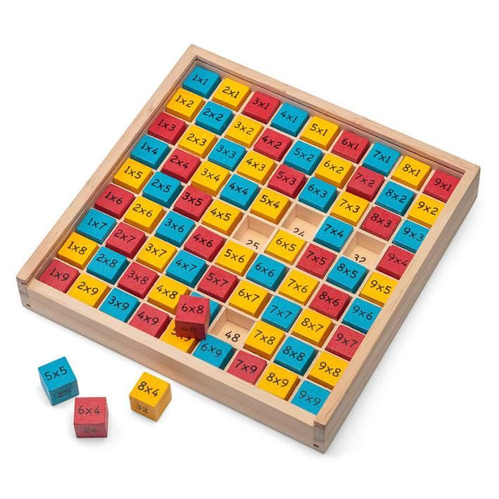 Multiplication Times Table Wooden Game by Tobar | Times ...