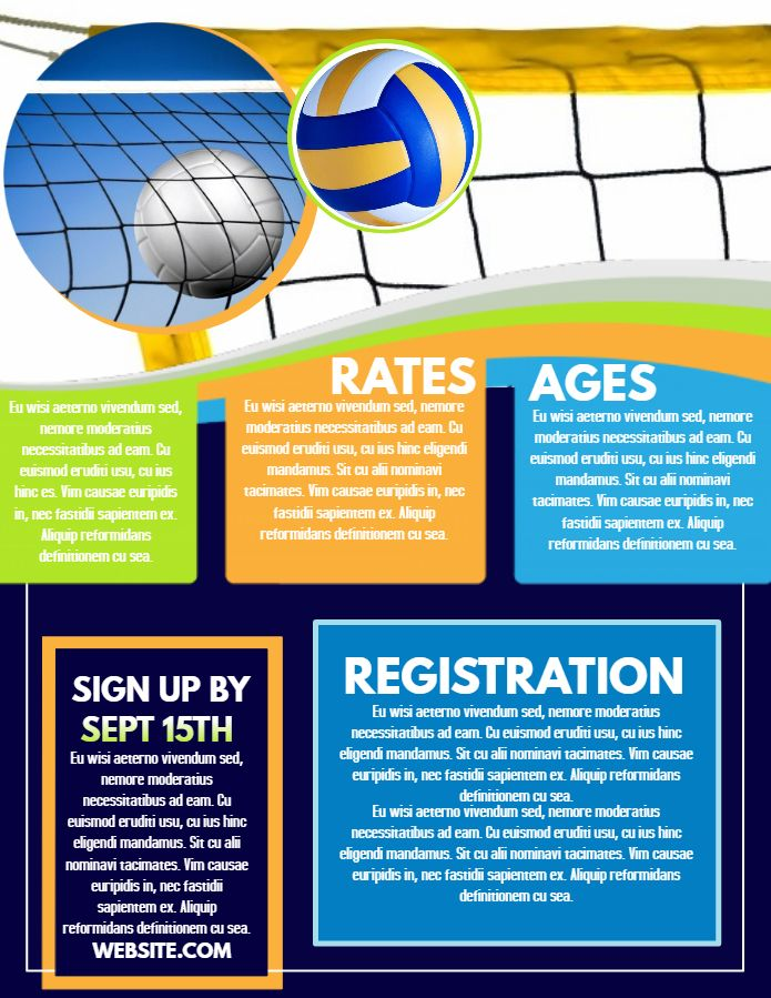 Football Club Registration Flyer Template Sports Poster Templates