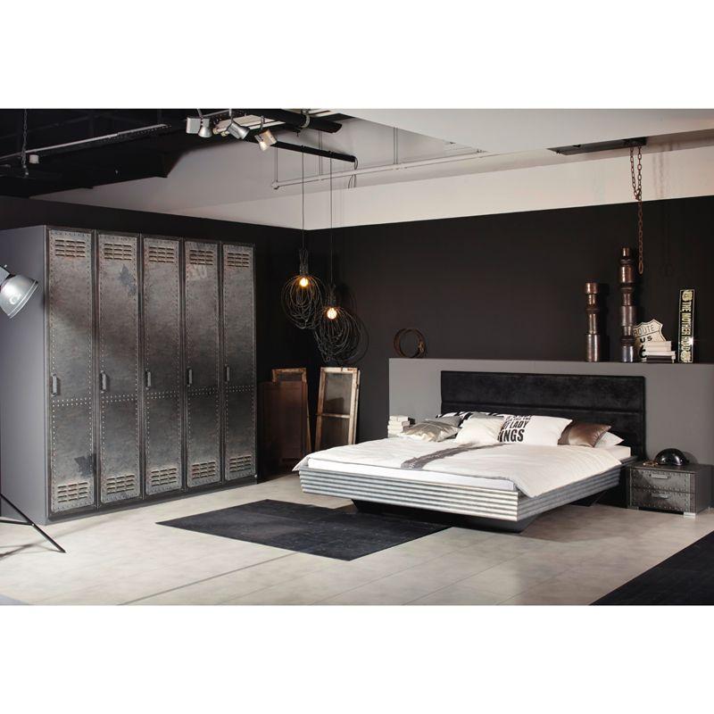 Schlafzimmer Jugendzimmer Set LOFTE221 Industrial-Print-Optik - schlafzimmer komplett