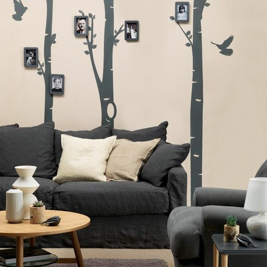 Cream and black statement living room Home Decorating Ideas ➁ - wohnzimmer rot grau beige