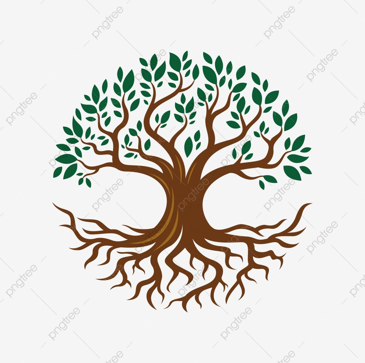 Illustration Of Circular Tree Root Design Life Clipart Abstract Background Png And Vector With Transparent Background For Free Download Tree Drawing Tree Roots Free Vector Illustration