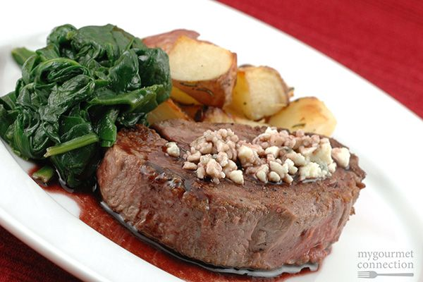 Beef tenderloin makes a quick, easy and elegant entree. A drizzle of port wine pan sauce and sprinkling of crumbled blue cheese really enhance the natural flavors of the beef.