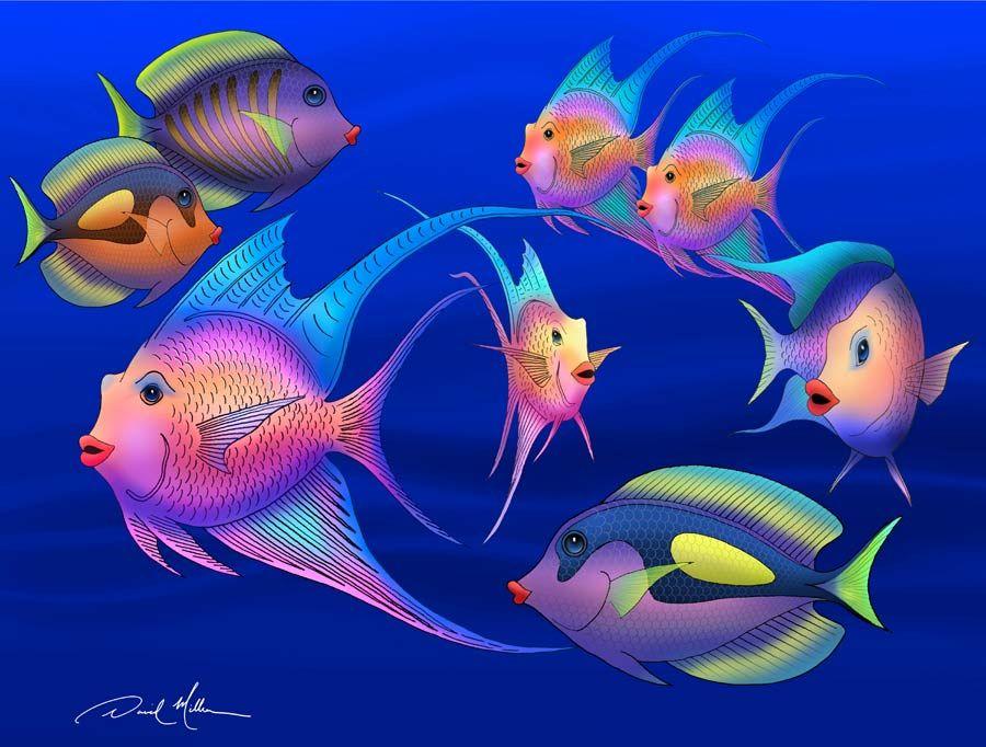 fish paintings abstract - Google Search   Fish art ...