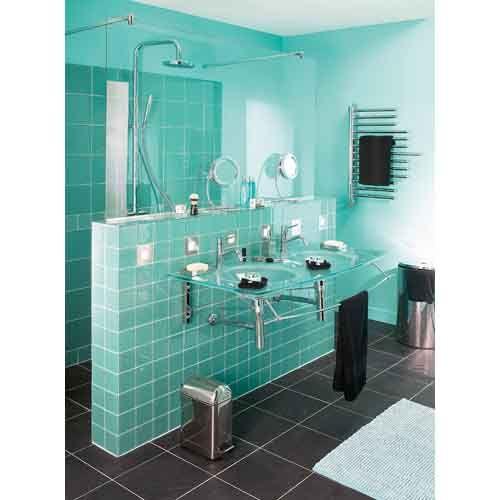salle de bain turquoise - Google Search | salle de bain