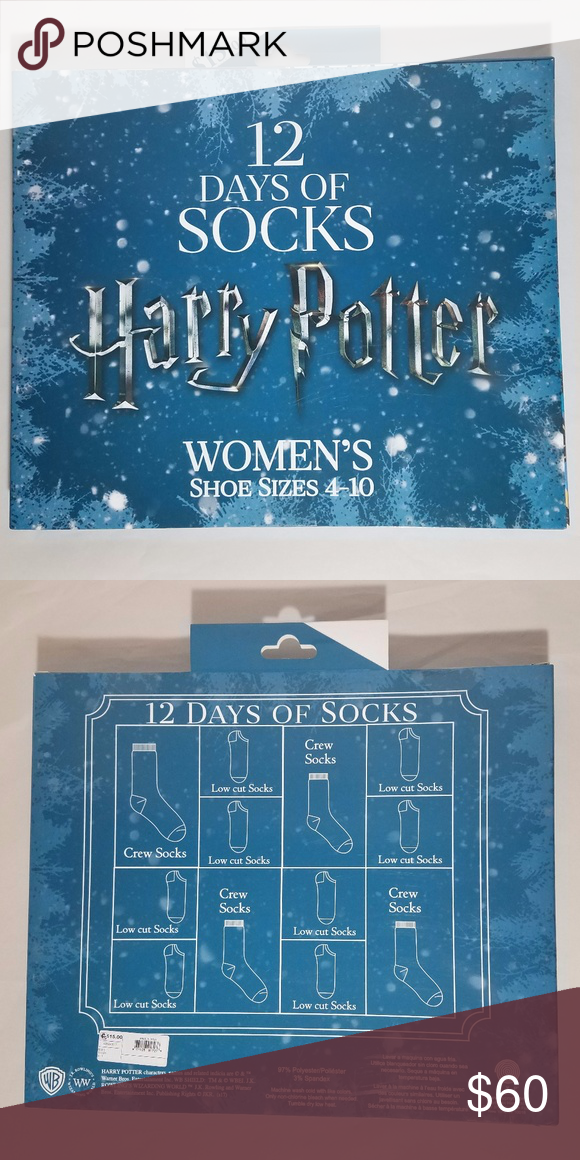 harry potter 12 days of socks set christmas advent this is a new in the box