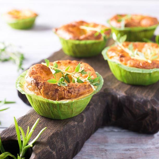 Minis-muffins aux poireaux et parmesan