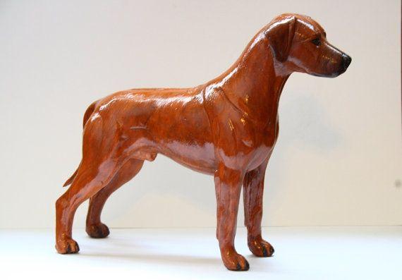 Rhodesian Ridgeback Figurine Hand Painted Collectible Statue
