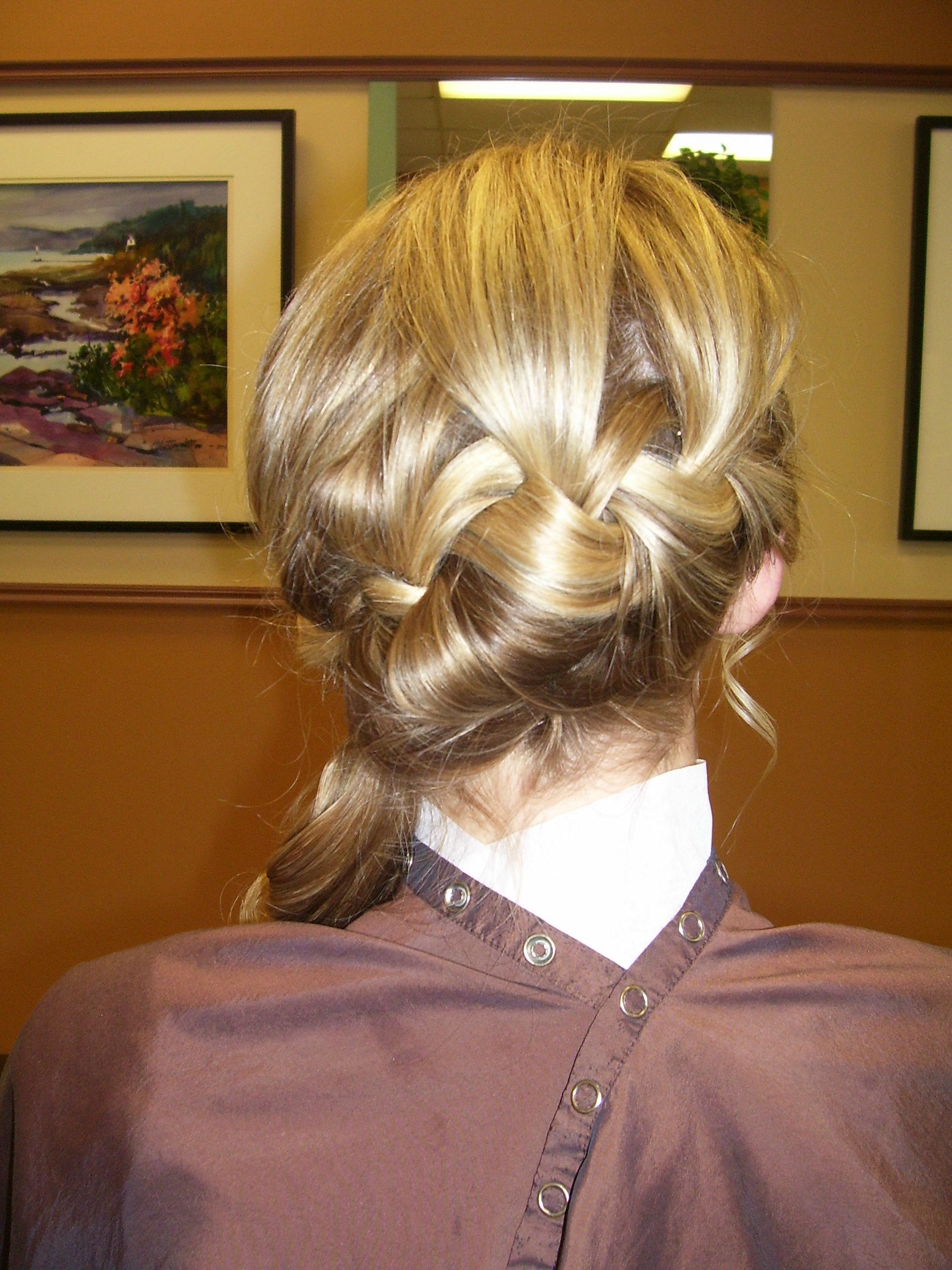 Blonde loose braid side pony for prom Hair by Annifaye  Hair love