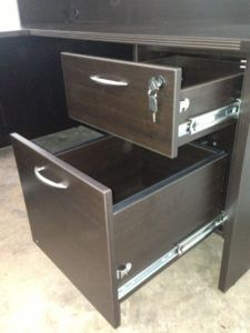 Beau Office Desk With Locking Drawers