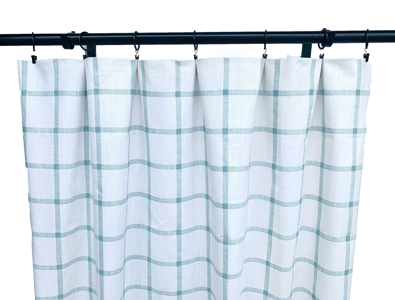 Sage And White Checkered Curtains Checkered Curtain 2 Curtain