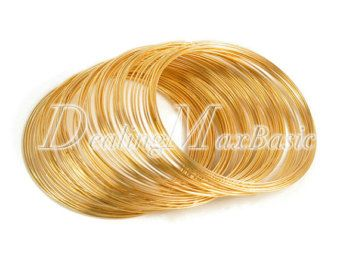 0.6mm Antique Copper Steel Memory Wire 100 Loops For Bracelet Making Cuff Bangle