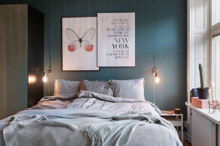 Post: Se puede tener muebles azules y acertar --> blog decoración nórdica, cocina azul, decoración interiores, estilo escandinavo, muebles azules, muebles de colores, pared azul, sofá azul