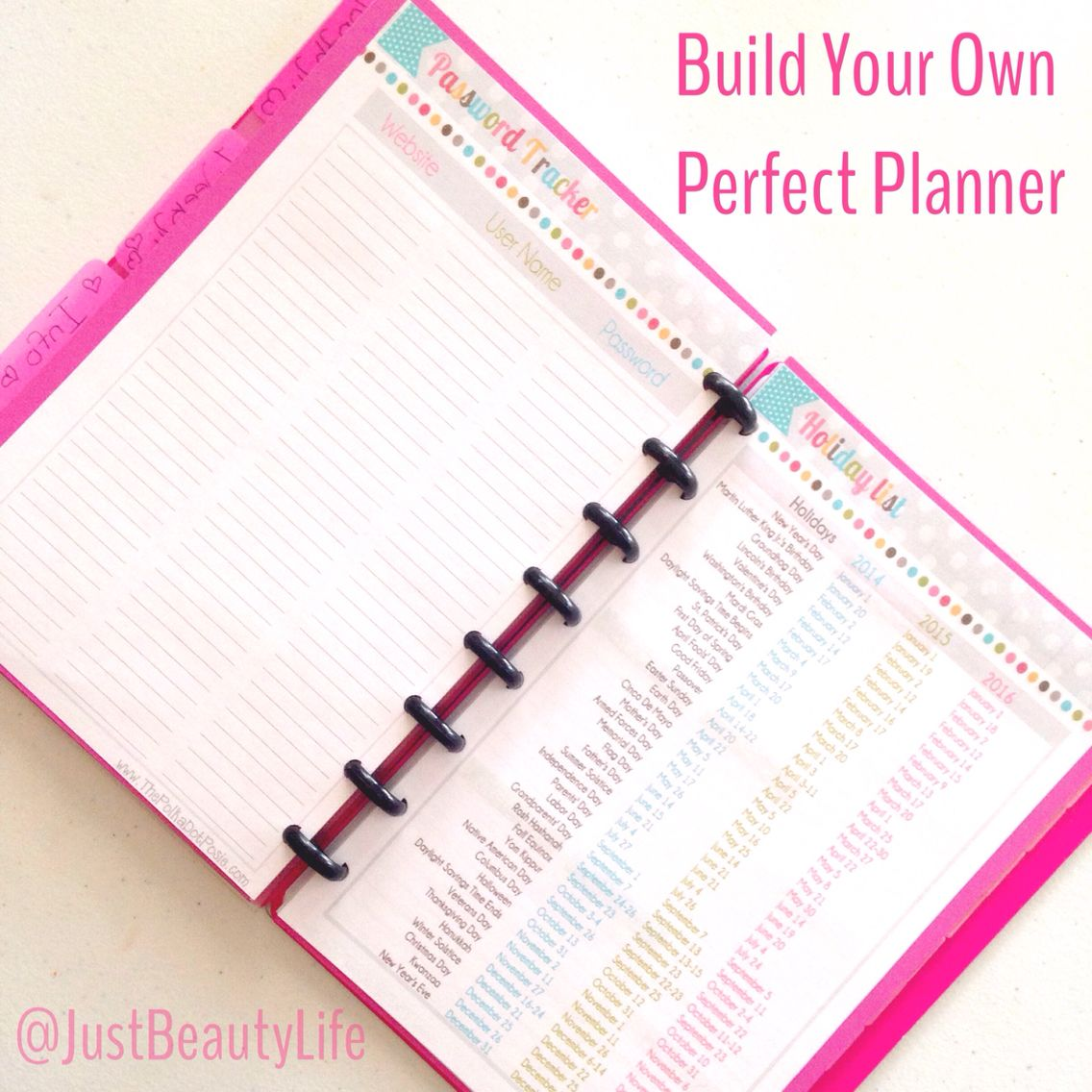 how to build your own planner links to printables and tools needed to get started. Black Bedroom Furniture Sets. Home Design Ideas