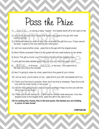 Captivating Baby Shower Game