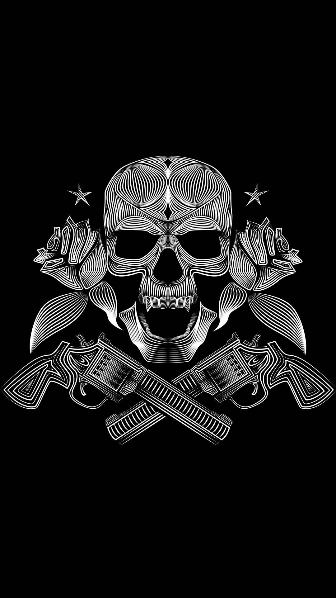 Pin by Kimberly Thorsen on I Skulls Guns wallpaper