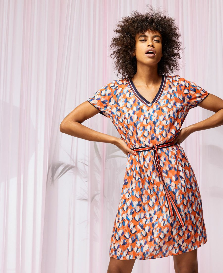 Imprimé Floral Abstrait Collection Reilly Step À Robe Femme One qSPxU7f