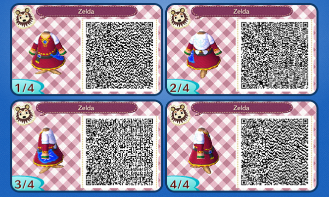 Animal Crossing: New Leaf Skyward Sword Zelda Outfit QR ...