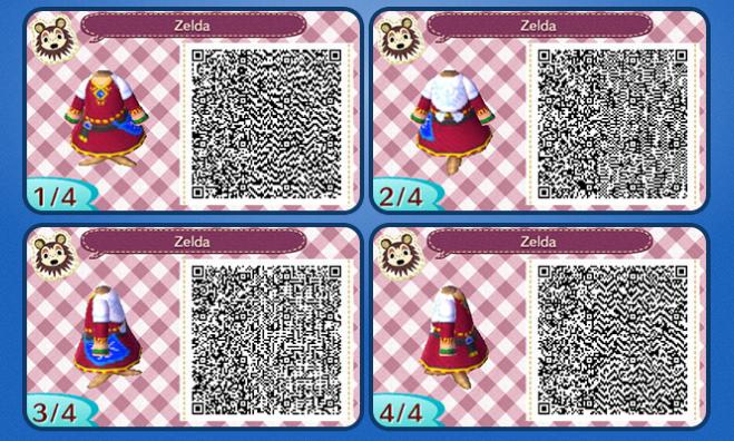 Animal Crossing: New Leaf Skyward Sword Zelda Outfit QR ...