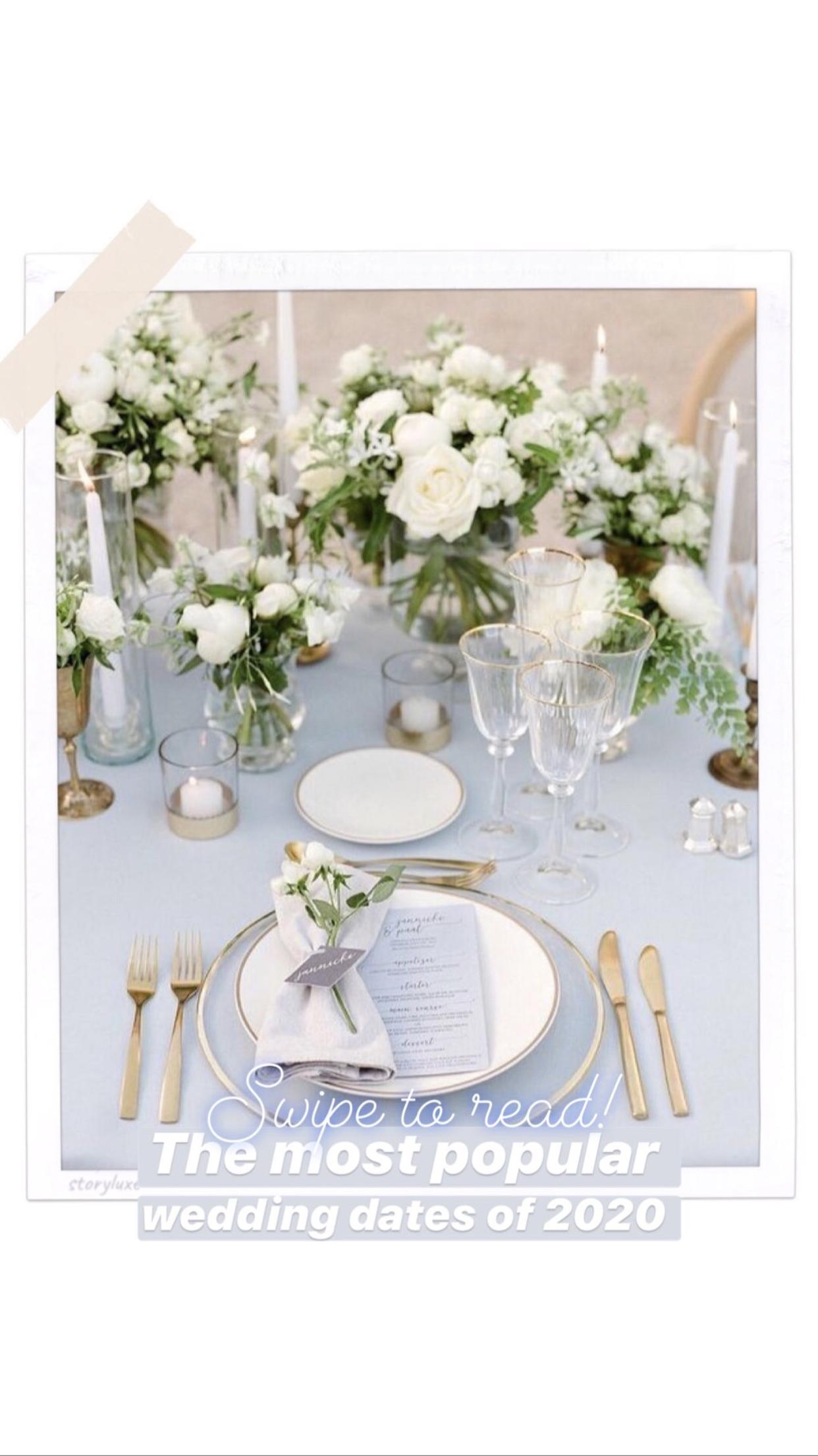THE MOST POPULAR 2020 WEDDING DATES Wedding flowers
