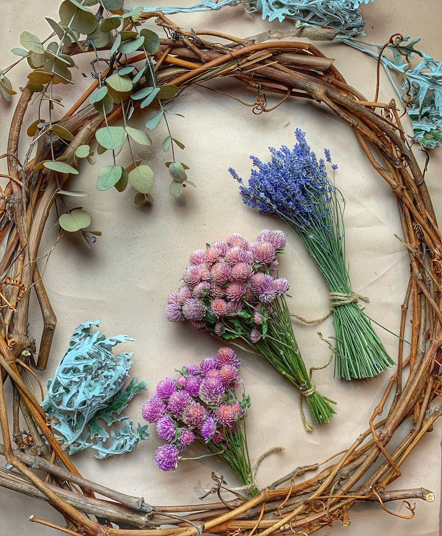 Diy dried flower wreath making kit in 2020 dried flower