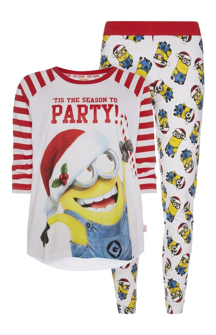 Primark - Minions Christmas Party PJ Set  4ee9d94ba