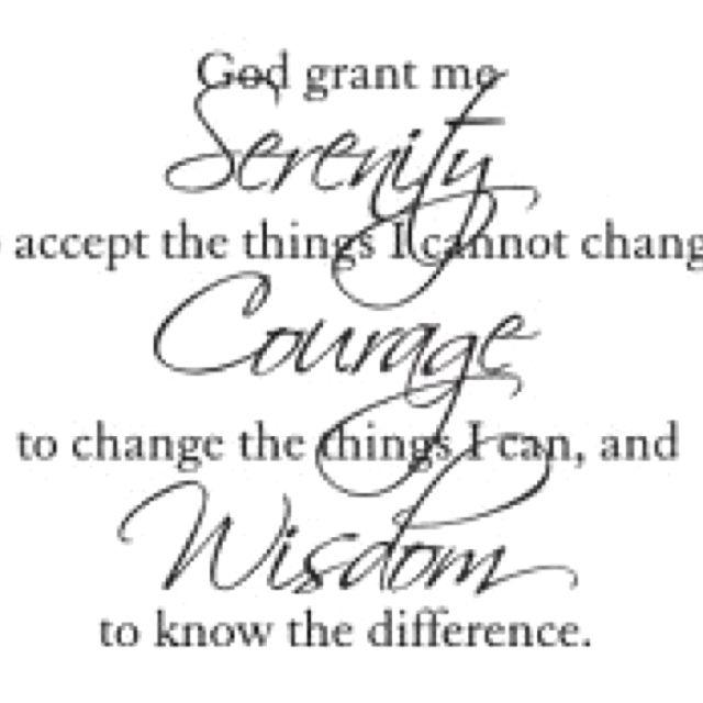Tattoo Quotes Wisdom: Prayer Tattoo, Serenity Prayer